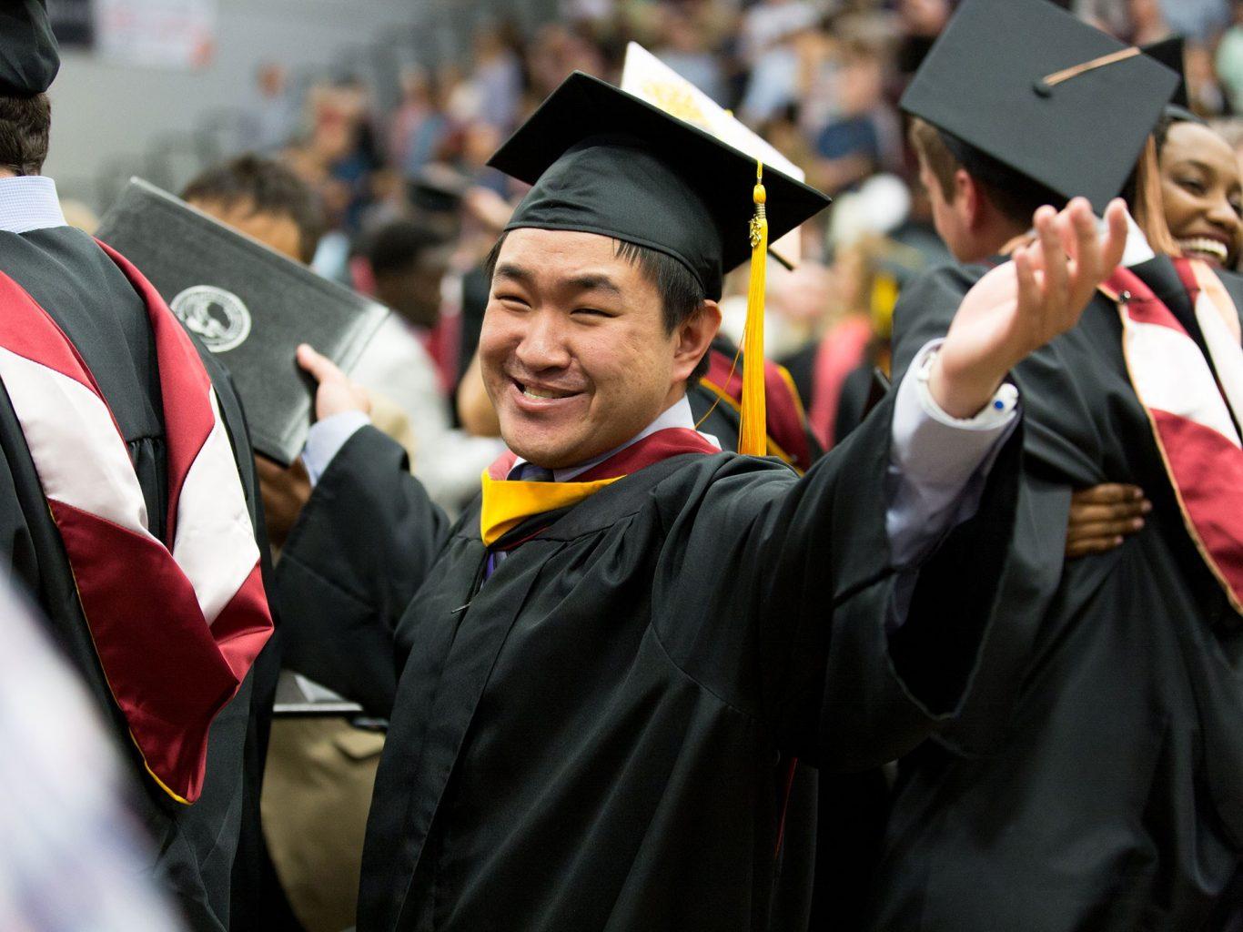 OC student at graduation
