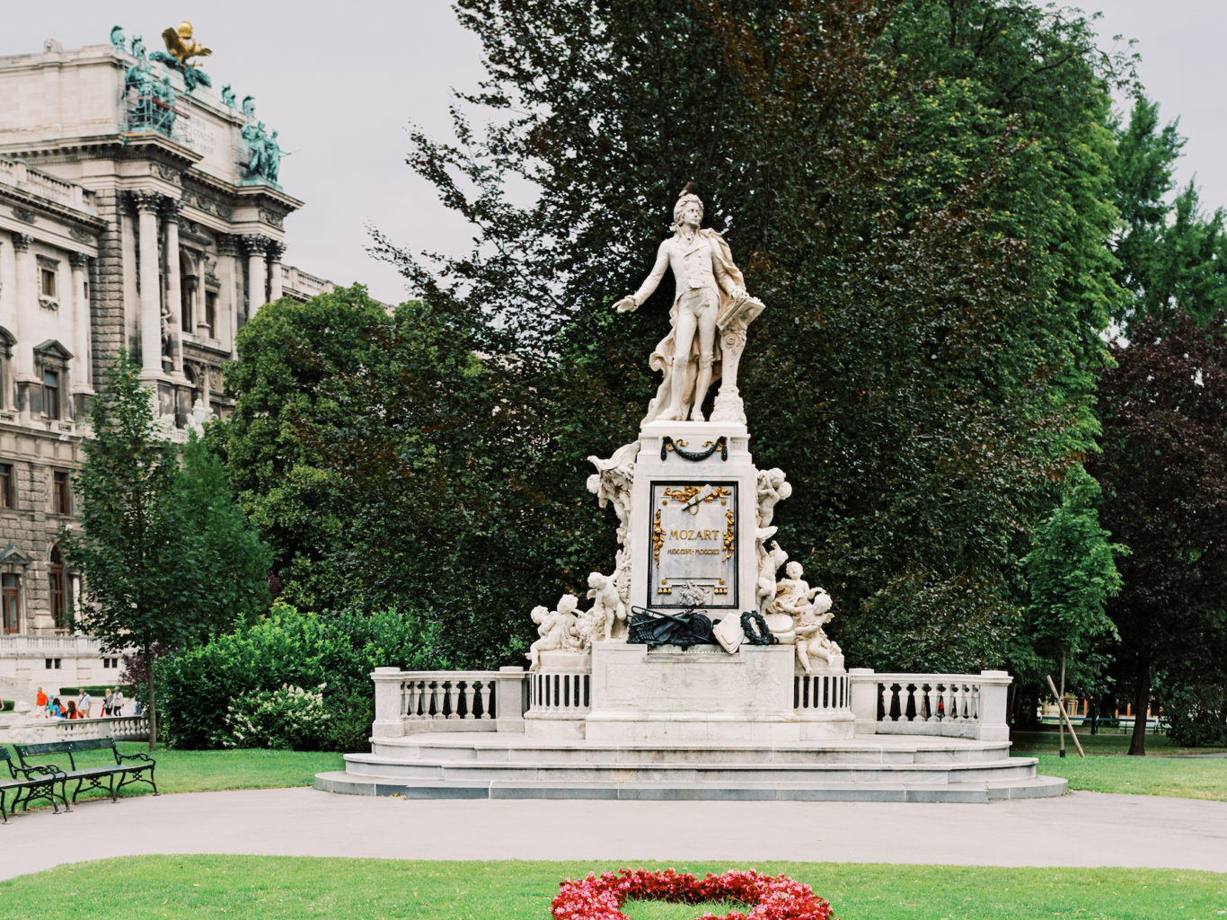Monument to Mozart in Vienna, Austria