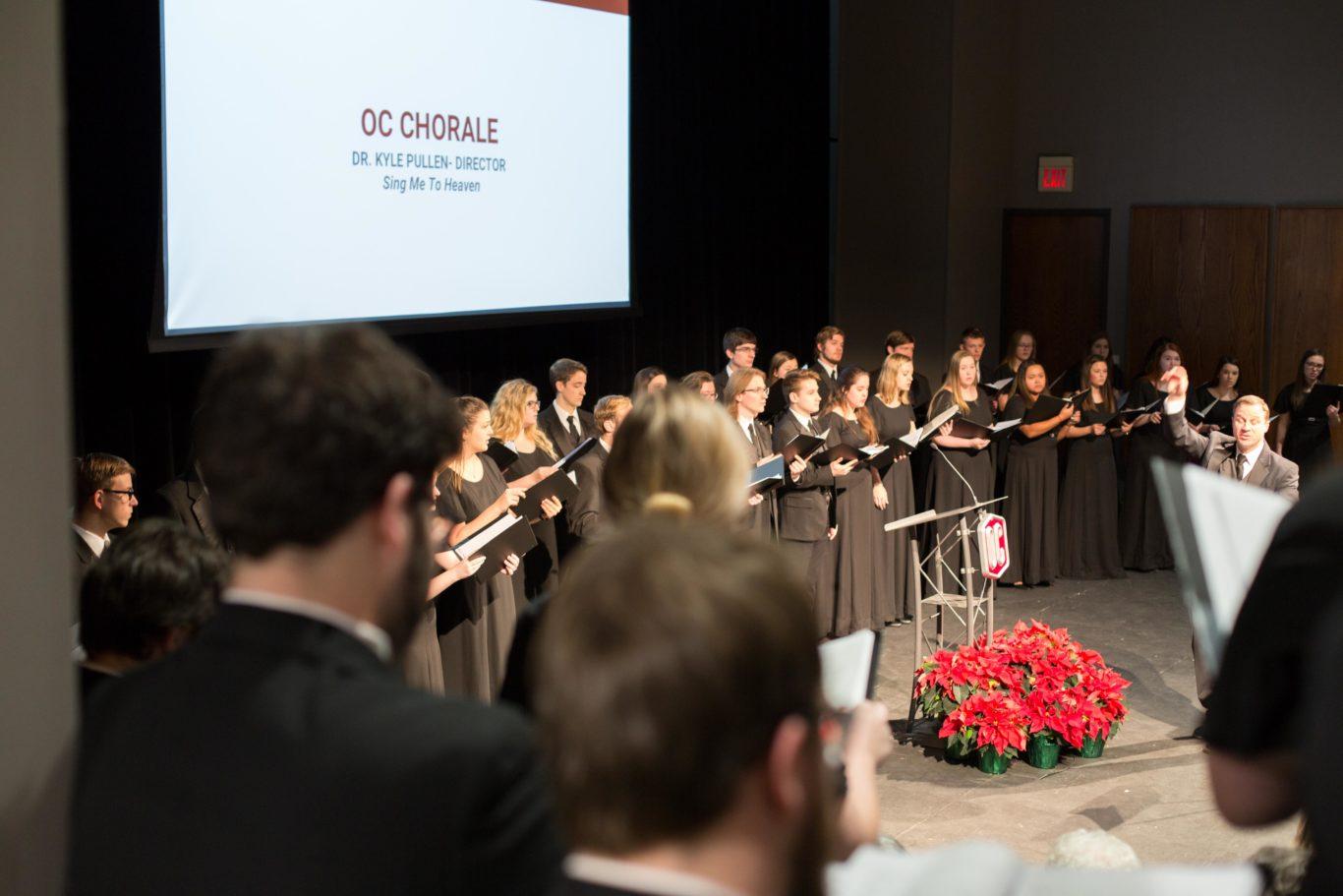 Choir performing at OC remembers