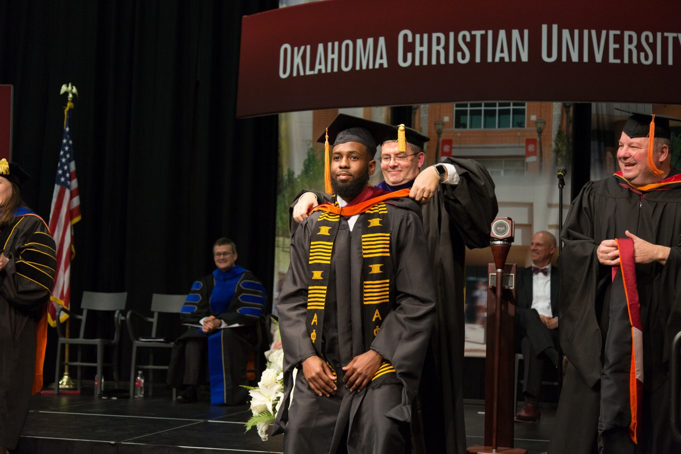 Graduate student graduating