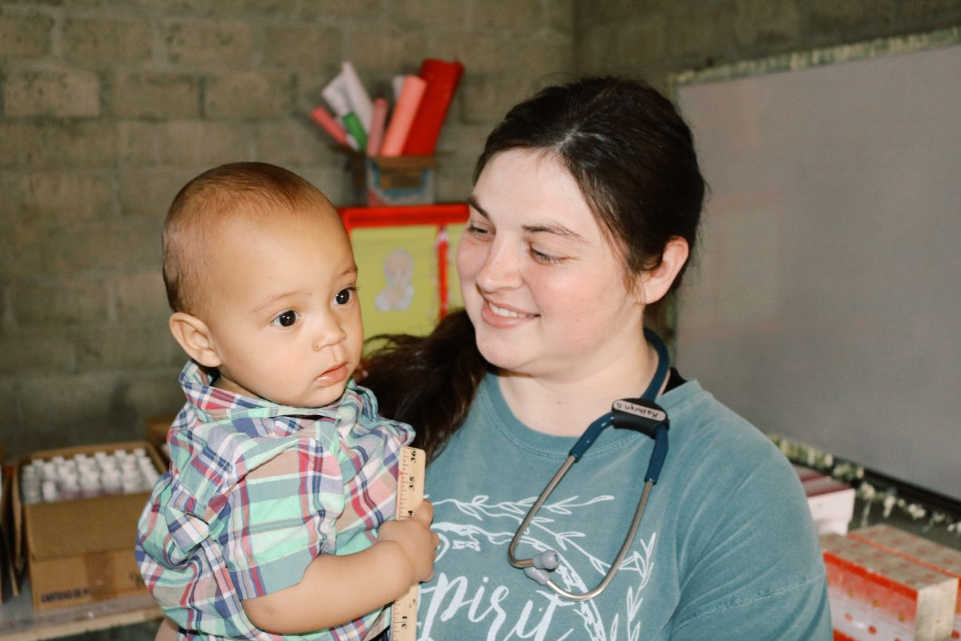 Nurse with child