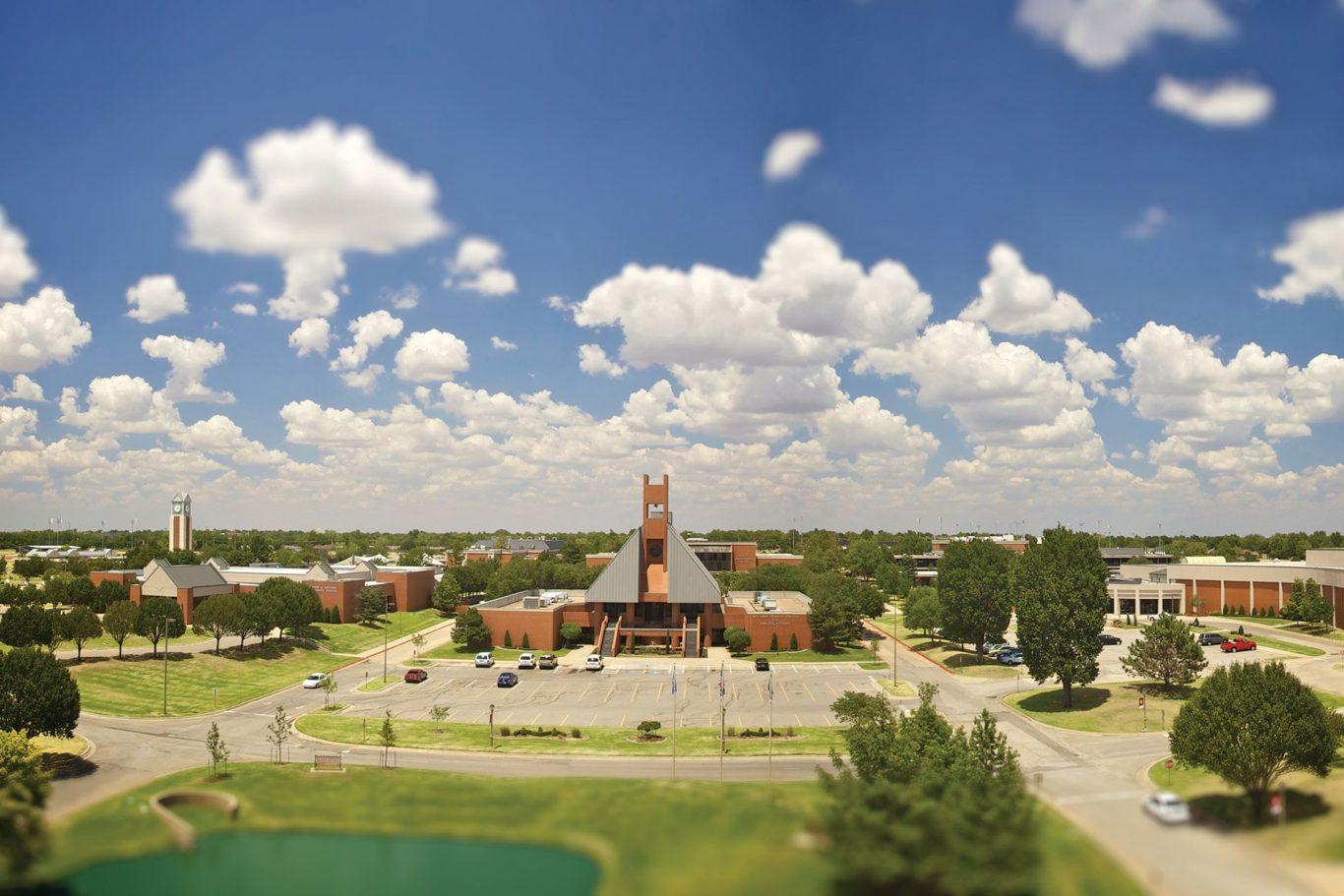 Wide shot of OC campus