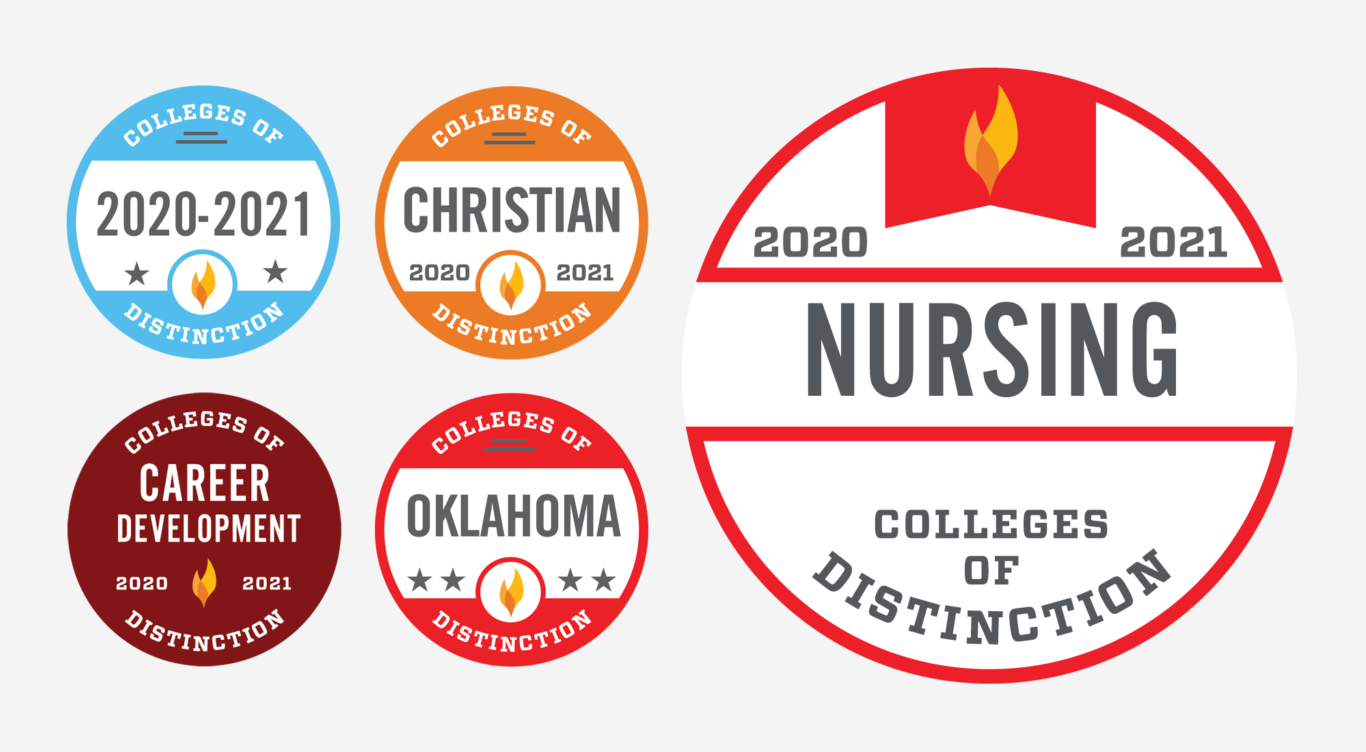 Colleges of Distinction badges featuring Nursing
