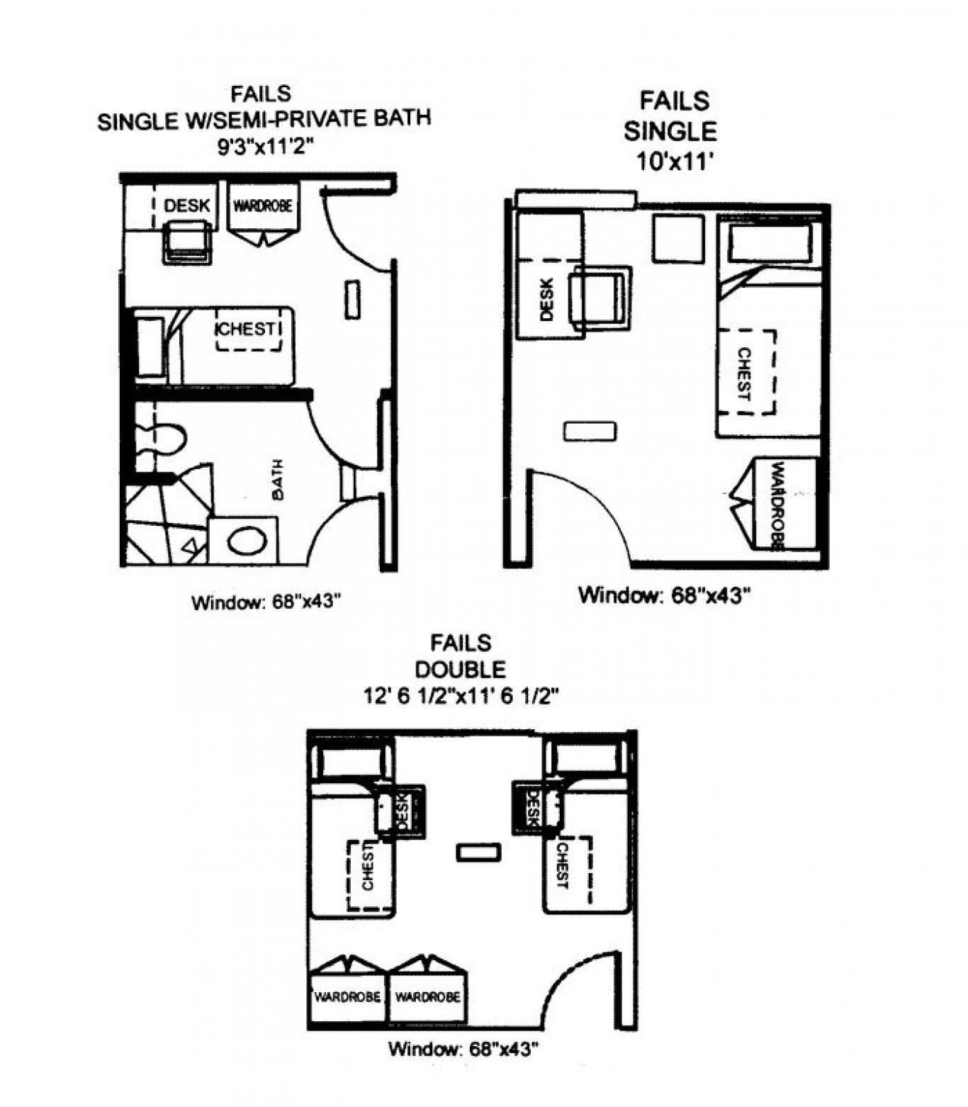 Fails Hall floorplan