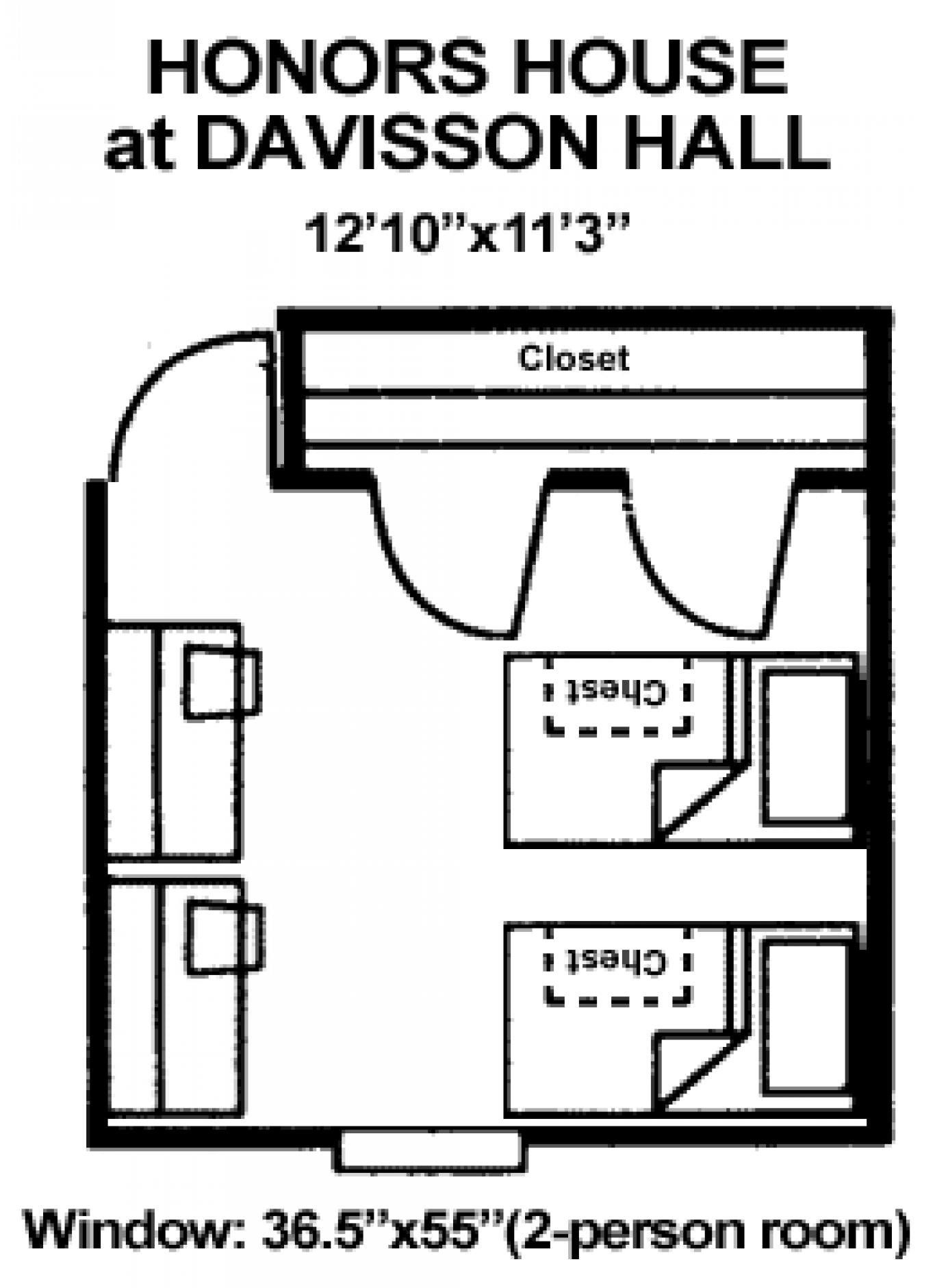 Honors House floorplan