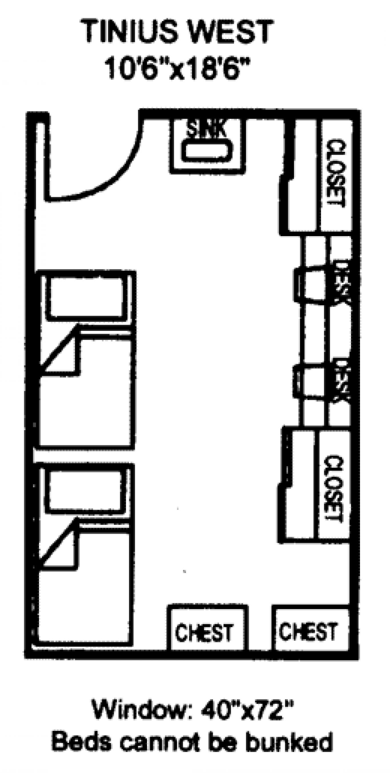 Tinius West floorplan