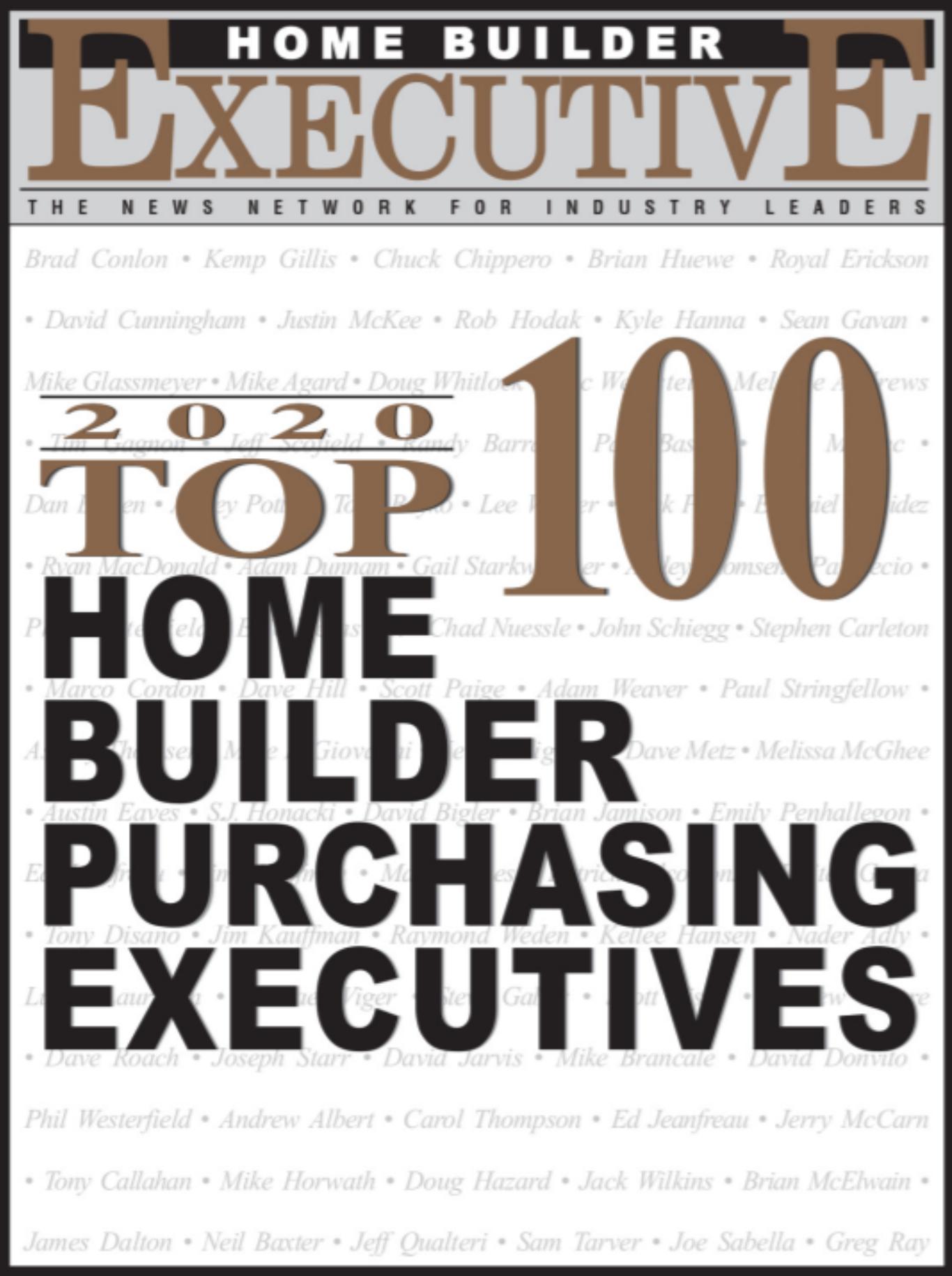 Top 100 Home Builders Publication Kate Boice 2