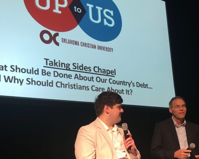 Drew Eckhart and Brian Simmons at OC Up to Us debate